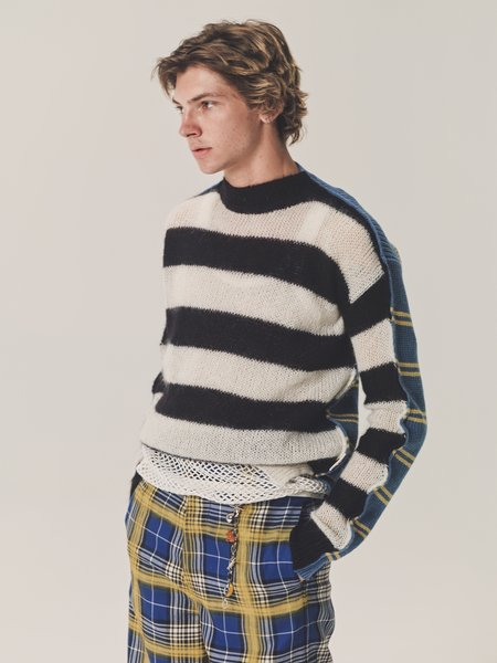 Marni Two Sided Mohair Punk Knit Sweater - multi