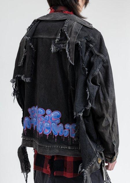 Mihara Yasuhiro Painted Denim Jacket - Black