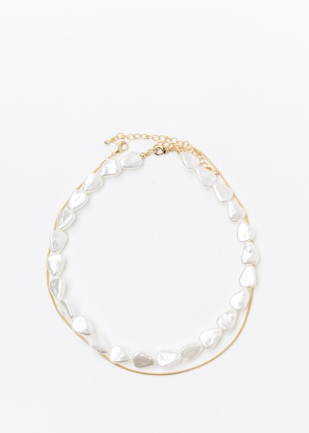 DEPARTMENT Chains And Pearl Necklaces Set - Gold