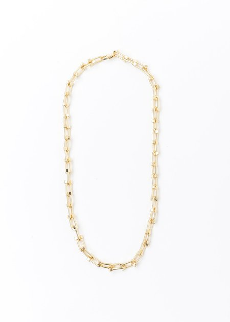 DEPARTMENT Lock Chain Necklace - Gold