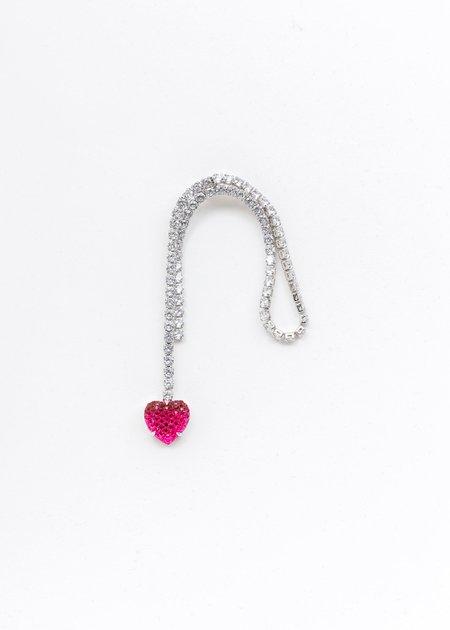 DEPARTMENT Heart Earring A - Silver/Pink