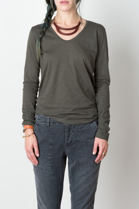 Hope Jen Top In Khaki Green