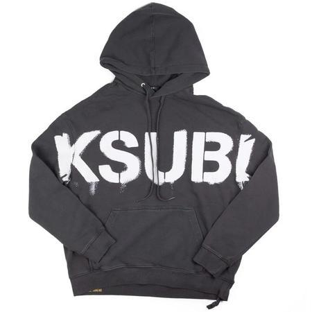 Ksubi Stencil Biggie Hoodie SWEATER - GRAY