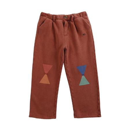 kids bobo choses geometric fleece pants - brown