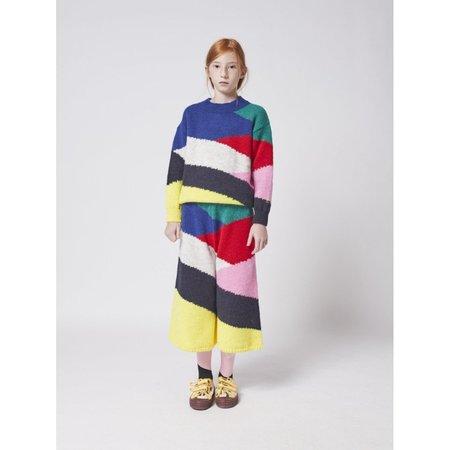 kids bobo choses block knitted jumper - multicolor
