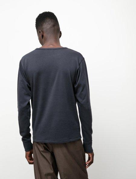 Lemaire Terry L/S T-Shirt - Indigo