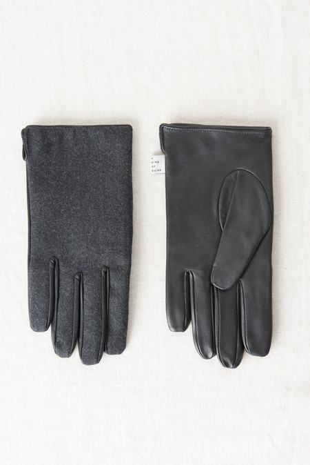 A Kind of Guise Ladan Gloves In Black/Anthracite
