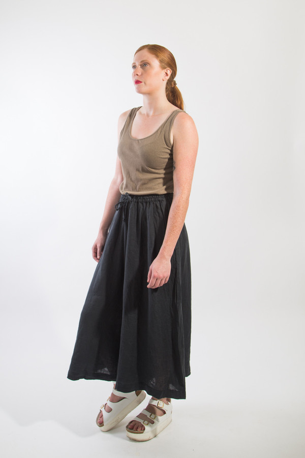 Black Crane Wide Culottes
