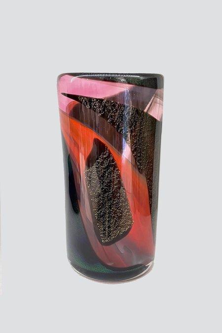 Sirius Glassworks Obsidian Supernova Vase