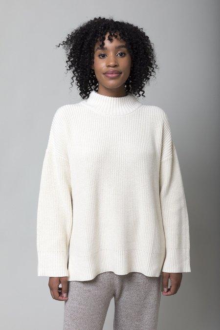 Apiece Apart Eco Carolina Pullover - Cream Cream