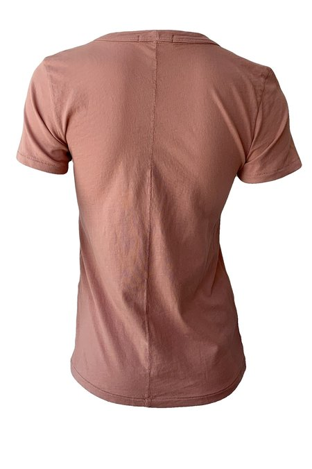 Rag & Bone Garment Dye Vee Tee - Mauved Oat