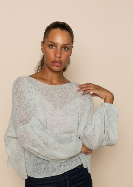 Louiza Babouryan Cashmere Slouchy Sweater - Grey