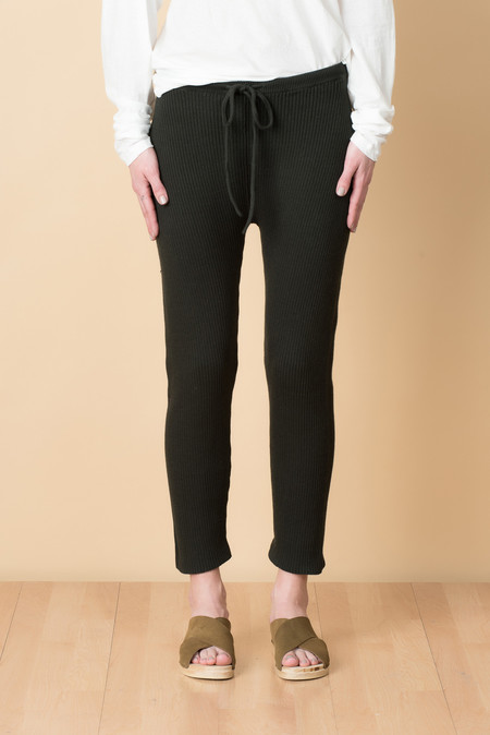 Lauren Manoogian Rib Arch Pants In Pine Black
