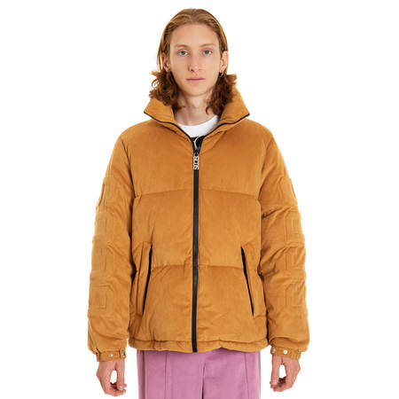 GCDS Quilted jacket - Brown