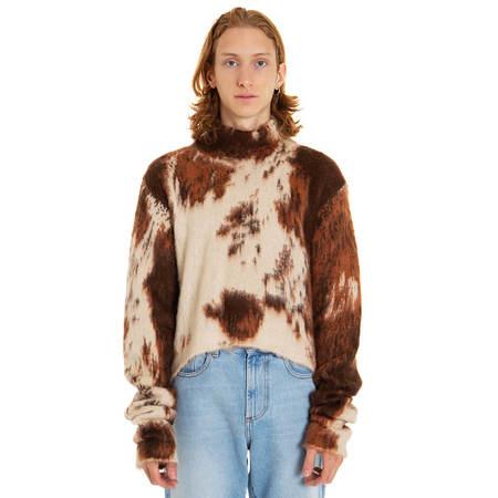 GCDS Cow sweater - brown