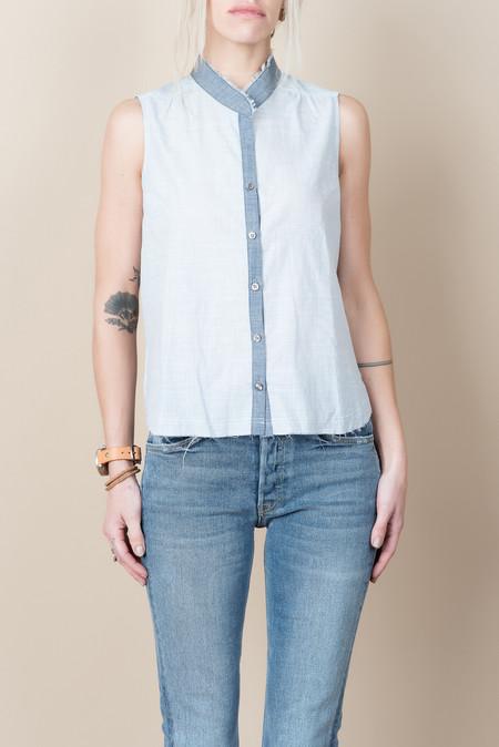 Pharaoh Sleeveless Shirt In Blue/White