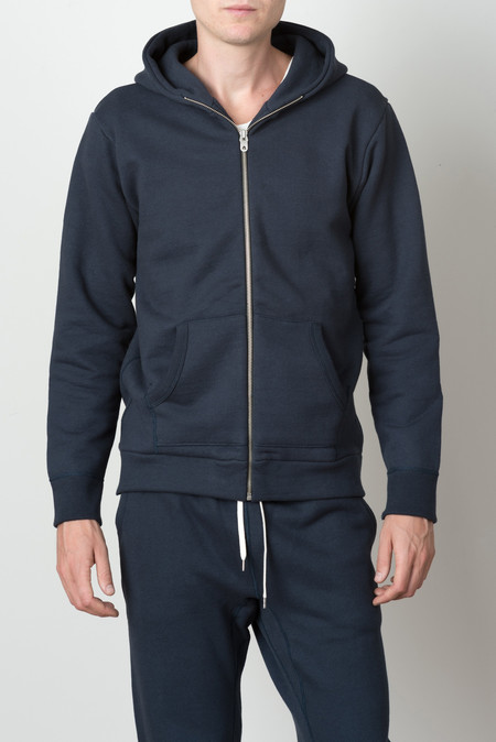 Still By Hand Zip Parka In Navy