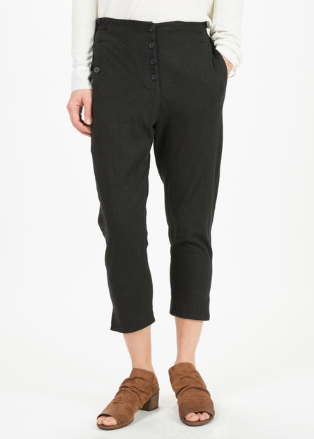 Hazel Brown Button Fly Slouch Pants