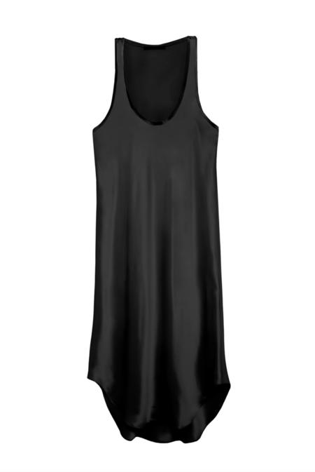 KES Raw Edge Tank Dress- Black
