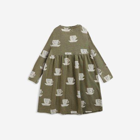 kids Bobo Choses Cup of Tea Kid's Midi Dress - Dark Green