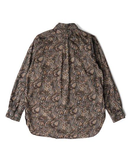 Engineered Garments 19 Century Cotton  BD Shirt - Black/Brown Paisley Print