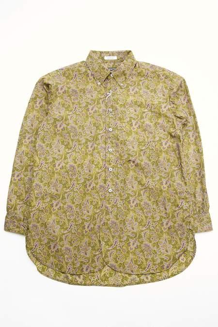 Engineered Garments 19 Century Cotton BD Shirt - Olive/Purple Paisley Print