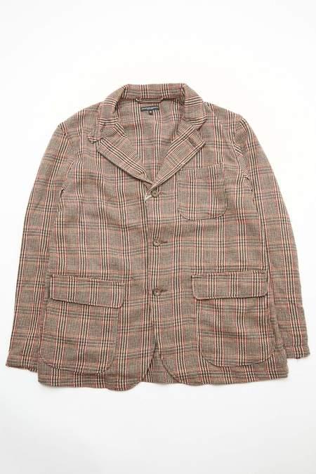 Engineered Garments Wool Poly Loiter Jacket - Brown/Orange Glen Plaid