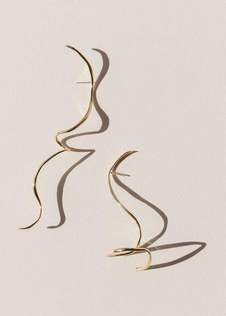 FARIS Boa Earrings - Bronze