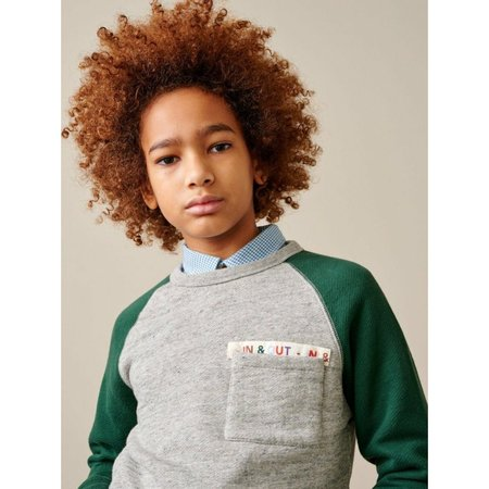 Kids bellerose vuk sweatshirt - heather grey