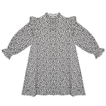 Kids the new society gannin dress - leopard