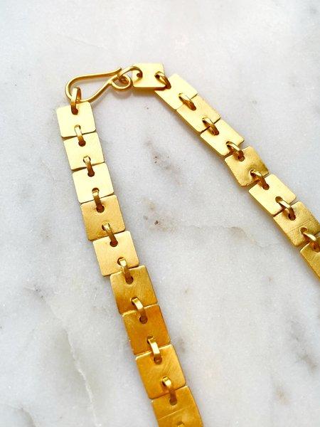 Jane Diaz Flat Square Chain - Gold