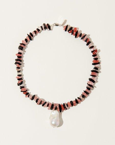 SANTANGELO Kitano Necklace -  Cherry Stripe