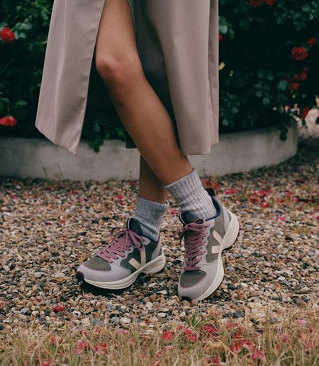 VEJA Venturi Suede sneaker - Kaki Sable/Oxford Grey