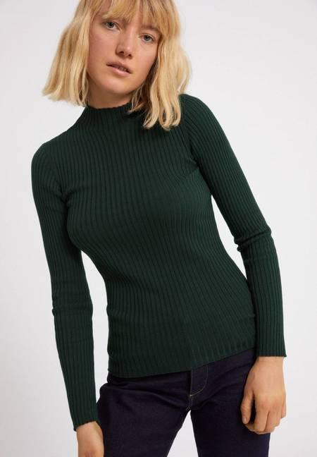Armedangels Alaani  Organic Cotton Sweater - Vintage Green