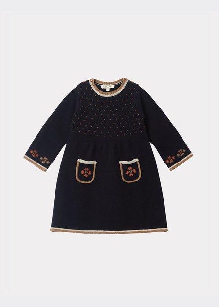 Kids Caramel Elara Baby Dress - Midnight