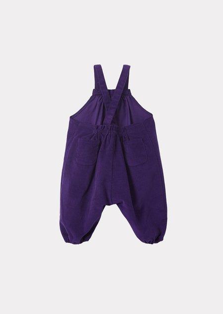 Kids Caramel Gobi Baby Dungaree - Deep Purple