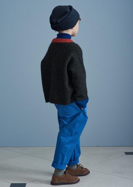 Kids Caramel Leda Trousers - Pacific Blue Twill