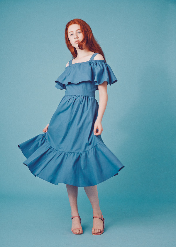 Samantha Pleet Paramour Dress - Blueberry