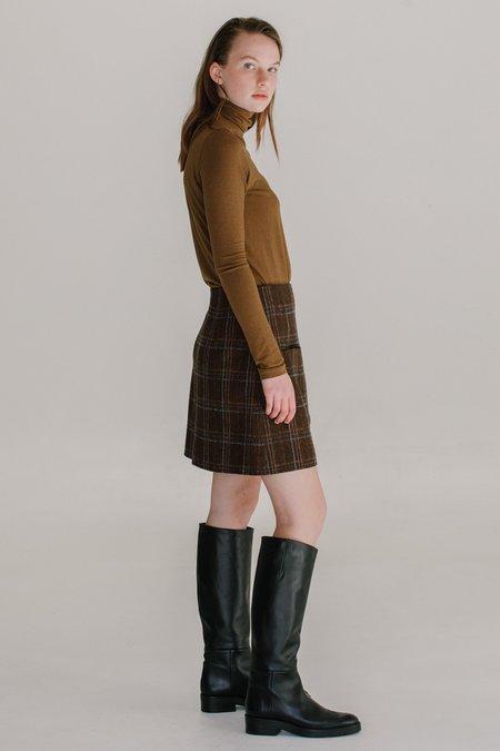 Mijeong Park Roll Neck Jersey Top - Light Brown