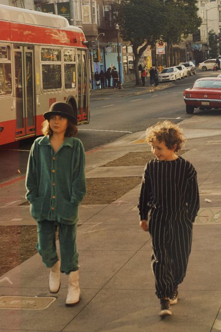 Kids We Are Kids Max Kid's Oversized Jogger - Black/White Stripes
