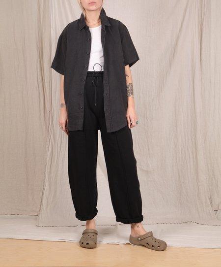 Jungmaven-Agenta S/S Button Down Shirt // Black