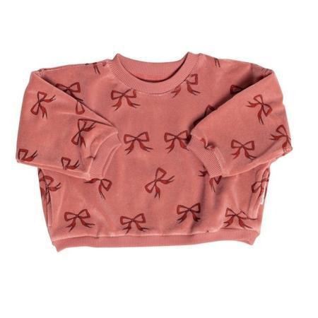 KIDS maed for mini bow sweatshirt - PINK
