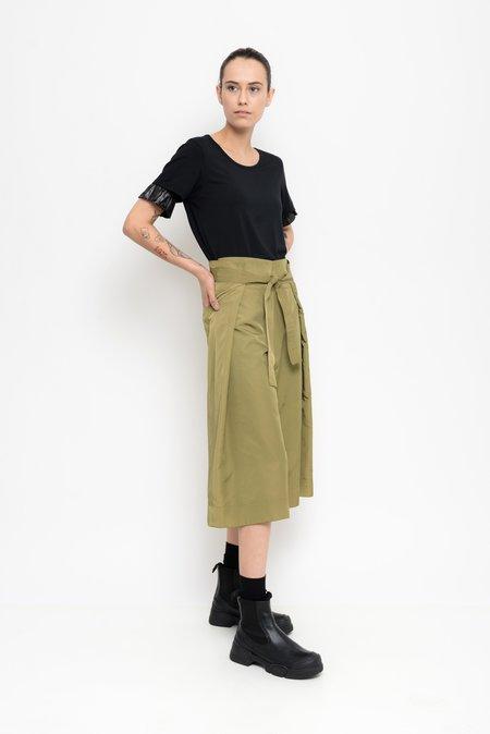 Uma Raquel Davidowicz Rockford Nylon Culotte Pants With Sash Belt