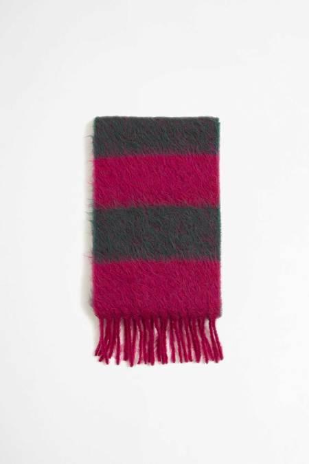 Marni Striped scarf - persian green