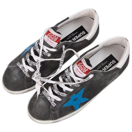 Golden Goose Grey Suede Superstar Sneakers