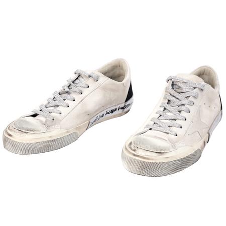 Golden Goose Beige Suede Superstar Sneakers