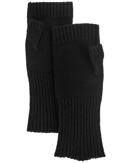 Y's Black Wool Mittens