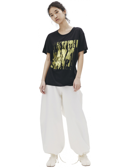 Ann Demeulemeester Printed Cotton T Shirt - Black
