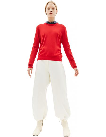 Maison Margiela Red Cotton Sweater