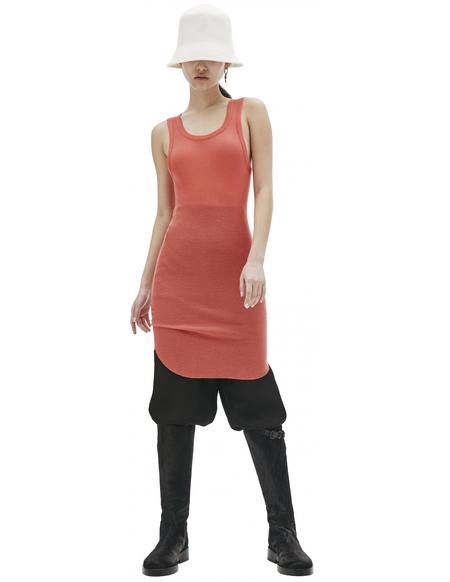 Ann Demeulemeester Red Viscose & Cashmere Tank Top